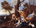 The Nurture of Jupiter classical painter Nicolas Poussin