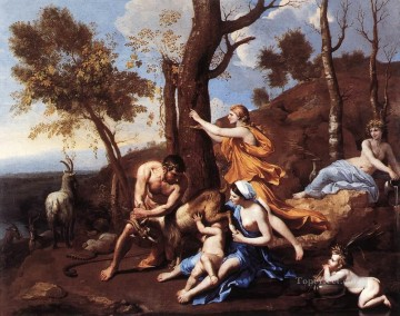 classical art - The Nurture of Jupiter classical painter Nicolas Poussin