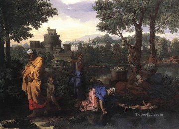 classical art - The Exposition of Moses classical painter Nicolas Poussin