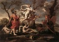 Venus Presenting Arms to Aeneas classical painter Nicolas Poussin
