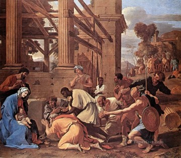 Adoration Art - Adoration of the Magi classical painter Nicolas Poussin
