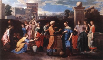 classical art - Rebecca at the Well classical painter Nicolas Poussin