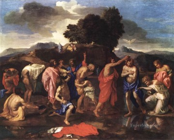 baptism of christ Painting - Sacrament of baptism classical painter Nicolas Poussin