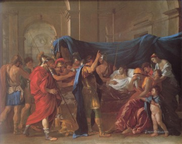Death Art - The Death of Germanicus classical painter Nicolas Poussin
