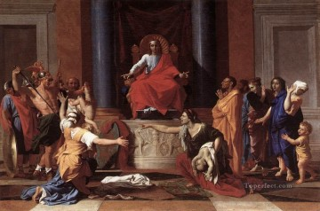 classical art - The Judgment of Solomon classical painter Nicolas Poussin