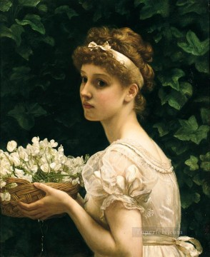J Pea Blossoms girl Edward Poynter Decor Art