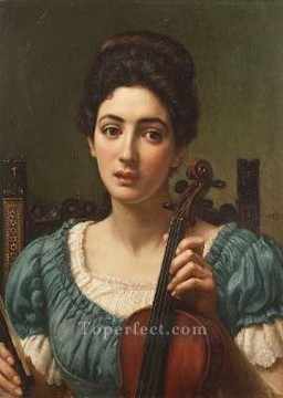 the Canvas - John Sir TheViolinist1891lg girl Edward Poynter