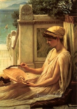 girl Deco Art - On the terrace girl Edward Poynter