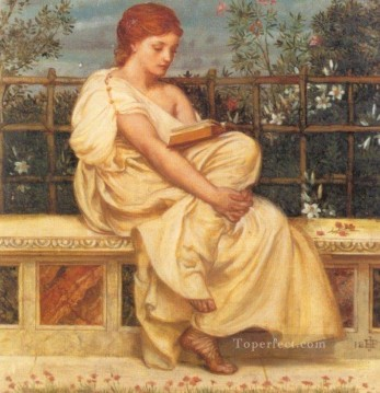 girl Deco Art - Reading girl Edward Poynter