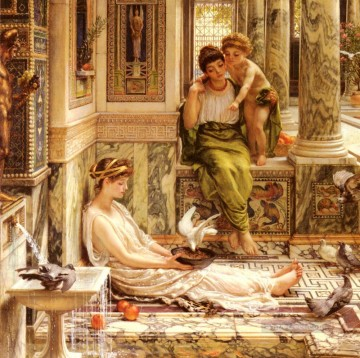 J Corner Of The Villa girl Edward Poynter Decor Art