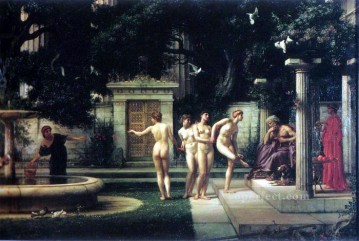 girl Deco Art - A visit to Aesclepius girl Edward Poynter