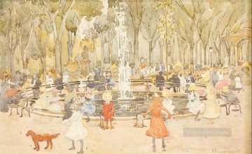 new orleans Painting - In Central Park New York Maurice Prendergast