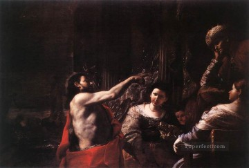 Mattia Preti Painting - St John The Baptist Before Herod Baroque Mattia Preti