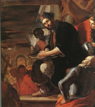 Hand Canvas - Pilate washing His Hands Baroque Mattia Preti