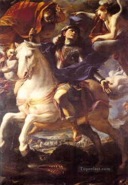 horse canvas - St George On Horseback Baroque Mattia Preti