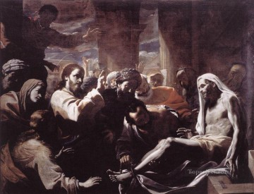 Mattia Preti Painting - The Raising Of Lazarus Baroque Mattia Preti