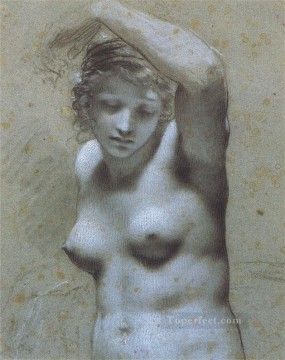 Pierre Paul Prud hon Painting - Femme nue en buste Romantic Pierre Paul Prud hon
