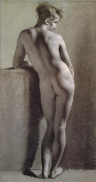 romantic romantism Painting - Standing Female Nude Seen from the Back Romantic Pierre Paul Prud hon