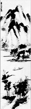 china - Qi Baishi lonely boat old China ink