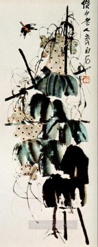 Qi Baishi Painting - Qi Baishi bindweed and grapes 2 old China ink