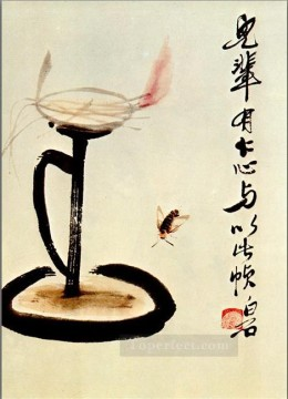 Qi Baishi Painting - Qi Baishi lamp old China ink