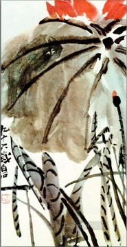 Qi Baishi Painting - Qi Baishi lotus old China ink