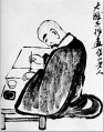 Qi Baishi portrait of a shih tao old China ink