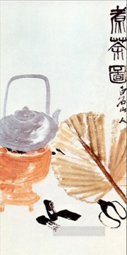 Qi Baishi Painting - Qi Baishi preparation old China ink