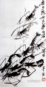 Qi Baishi Painting - Qi Baishi shrimp 2 old China ink