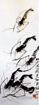Qi Baishi Painting - Qi Baishi shrimp 5 old China ink