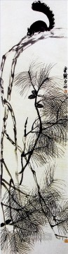 Qi Baishi Painting - Qi Baishi squrirrel old China ink