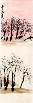 Qi Baishi Painting - Qi Baishi willows old China ink