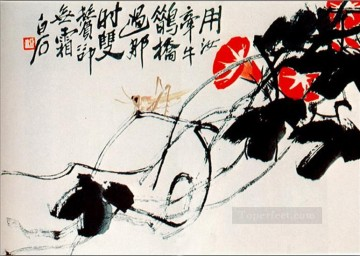 Qi Baishi Painting - Qi Baishi bindweed dodder old China ink