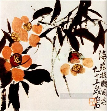 Qi Baishi Painting - Qi Baishi briar 2 old China ink