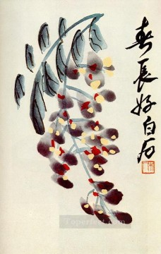 Qi Baishi Painting - Qi Baishi the branch of wisteria old China ink