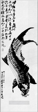 Qi Baishi Painting - Qi Baishi carp old China ink