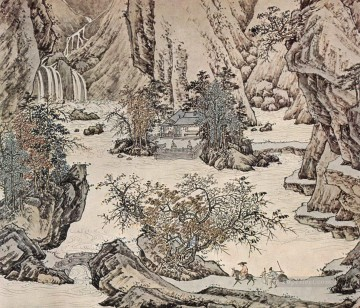 landscape old China ink Oil Paintings