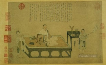 ni zan s portrait 1542 old China ink Oil Paintings