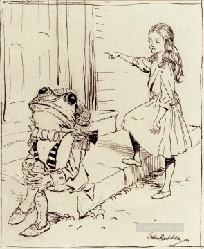 Alice And The Frog Footman illustrator Arthur Rackham Oil Paintings