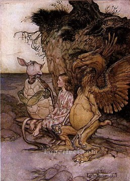 Alice in Wonderland The Mock Turtles Story illustrator Arthur Rackham Oil Paintings