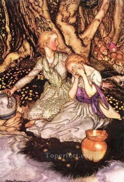 Goblin Market Down the glen tramp little men illustrator Arthur Rackham Oil Paintings