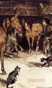 Gulliver Visiting With The Houyhnhnms illustrator Arthur Rackham Oil Paintings