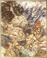 King of the Golden River Gave the Child a Bottle illustrator Arthur Rackham