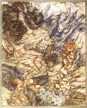 King of the Golden River Gave the Child a Bottle illustrator Arthur Rackham Oil Paintings