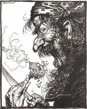Mother Art - Mother Goose A Little Nothing Woman illustrator Arthur Rackham