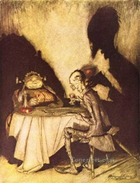 Mother Goose Jack Sprat and His Wife illustrator Arthur Rackham Oil Paintings