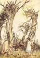 Mother Goose Man in the Wilderness illustrator Arthur Rackham