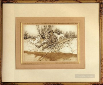 ink Art Painting - Rip Van Winkle illustrator Arthur Rackham