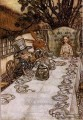Alice in Wonderland A Mad Tea Party illustrator Arthur Rackham