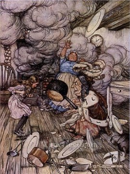 Alice in Wonderland Pig and Pepper illustrator Arthur Rackham Oil Paintings